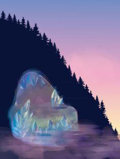 Crystal mountain #3 Selena Dugan-Fields Crystal Mountain, Spaceship, Selena, Fields, Sci Fi, Crystals, Art, Space Ship, Art Background