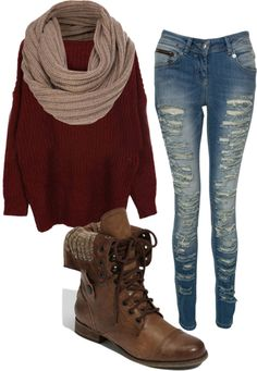 """I'm warm"" one of my Fav OUTFITS!! I need to live in a place where I can wear this type of outfit! Teen Hipster Fashion, Teen Fashion Fall, Hipster Fall Outfits, Winter Outfits For Teen Girls Cold, Teen Fall Outfits, New Girl Outfits, Warm Outfits, Hipster Boots, Winter Hipster"
