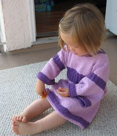Free Knitting Pattern - Toddler & Children's Clothes: Simple Dress