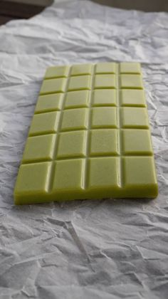 Matcha Chocolate1/4 cup / 50g of Cocoa Butter 1/3 cup / 35g Confectioner's Sugar 1 1/2 teaspoons of Coconut Milk Powder 1 teaspoon of Matcha Green Tea Powder