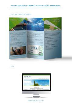 Folder e site para Valini Soluções