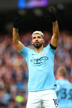Sergio Aguero of Manchester City celebrates scoring a goal to make it during the Premier League match between Manchester City and Chelsea FC at Etihad Stadium on February 2019 in Manchester,. Get premium, high resolution news photos at Getty Images Premier League Tickets, Premier League Champions, Premier League Matches, Football Icon, Football Players, Manchester City, Manchester England, Manchester United, Sergio Aguero