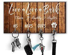 Personalized Key Holder Dog Leash Hanger for Wall Dog Lovers Gift Wall Key Rack Dog Lead Hook Housewarming Gift Weddi... Dog Lover Gifts, Gift For Lover, Lovers Gift, Dog Lovers, Wedding Gifts For Friends, Gift Wedding, Wedding Ideas, High Gloss Paint, Wall Key Holder