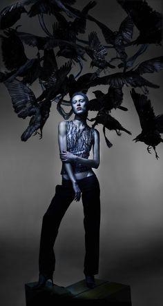 Freaky but beautiful editorial in Another Magazine. This shot has a bit of a True Detective vibe, love it.