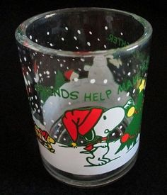 For sale in our Ebay store...click photo for full details  #Snoopy #Woodstock #Peanuts  Christmas Shot Glass Schultz Barware Holiday Decor #Christmas #Xmas #Schultz #holidays #drink #shot #liquor