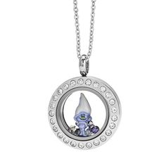 Our Mini Silver Living Locket® look with Crystals is a party waiting to happen!