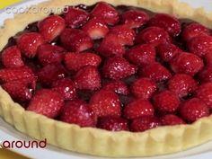 Crostata cioccolato e fragole | Cookaround