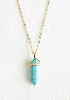 Simply Spirited Necklace. Refresh your look with a bit of boho-inspired charm, provided by this pendant necklace. #gold #prom #modcloth