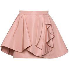 Miu Miu Skirt (41,330 MKD) ❤ liked on Polyvore featuring skirts, mini skirts, bottoms, saias, faldas, miu miu, short ruffle skirt, zipper skirt, short frilly skirt and ruffle skirt