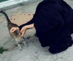 A Niqabi's pet cat