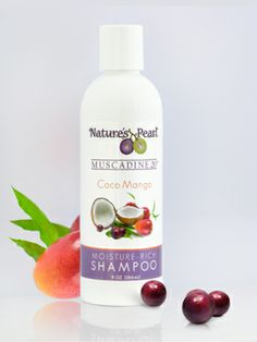 Coco Mango Shampoo Tired of chemical detergents and solvents in your shampoo that frizz, thin and split your hair? Breathe in the refreshing scent of mangos and coconut along with the antioxidant-rich texture of powerful Muscadines.  Cleanses every hair type, without stripping essential oils.