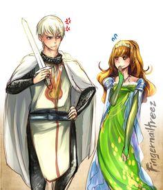 Princess Hermione and Her Royal Knight Draco 2 by fingernailtreez.deviantart.com on @deviantART