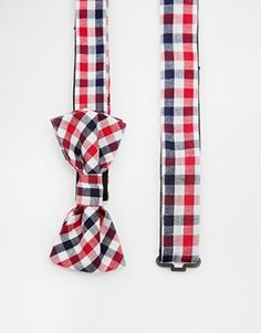 ASOS Bow Tie In Gingham Check