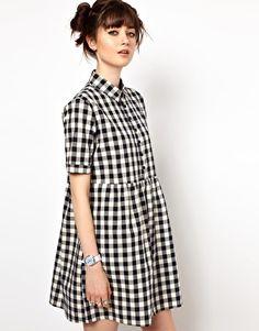 Enlarge The WhitePepper Gingham Check Shirt Dress