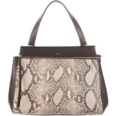 Céline Pre Owned Python Edge Bag 2 495 Liked On Polyvore Featuring