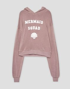 Text sweatshirt - Sweatshirts & Hoodies - Clothing - Woman - PULL&BEAR United Kingdom