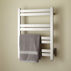 Keep the towels in your master bathroom soothingly warm with this chic, heated towel rack. Bathroom Towel Decor, Bathroom Renos, Bathroom Furniture, Bathroom Remodelling, Master Shower, Master Bathroom, Bathroom Pictures, Bathroom Ideas, Towel Warmer