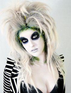 Female+Beetlejuice+Costume | Costume make up inspiration.