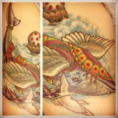 Legend of Zelda: Link's Awakening Wind Fish tattoo. Done by Grim North Tattoo in Portsmouth, NH