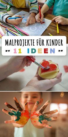 Malen kann jedes Kind, schon die Kleinsten. Aber Malen für Kinder muss altersgerecht sein, sonst entsteht Frust. 11 Ideen.