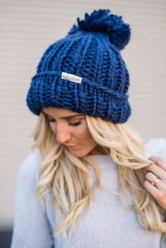 THE absolute most comfortable beanie EVER! And it's adorable with it's huge oversized pom pom and chunky knit yarn. Thick gauge oversized beanie slip on hat keeps you warm and looking amazing! Brushed Acrylic Yarn | One Size