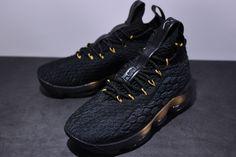 size 40 04945 4bc5d NIKE LEBRON 15 XV BLACK GOLD BLACK 897648 005