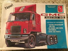 AMT GMC ASTRO 95 CABOVER TRUCK MODEL KIT 1/25