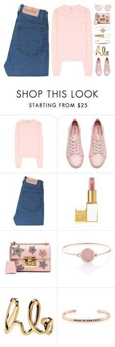 """~Vintage love: Retro Sunglasses~"" by amethyst0818 ❤ liked on Polyvore featuring Acne Studios, H&M, Gucci, Michael Kors, Chloé, MantraBand and vintage"