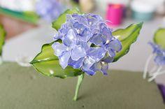 簡単なディップアート(アメリカンフラワー)作り方解説。今回は「紫陽花(あじさい)- Hydrangea 」を作ります。