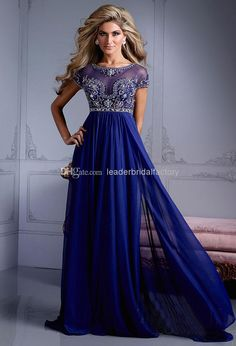 New Design Fashion Sexy Empire Mother Of The Bride Dresses Crew Short Sleeves Sweep Train Beading Crystal Ruched Chiffon Formal Dresses M13 Mothers Dresses For A Wedding Mothers Dresses For Sons Wedding From Leaderbridalfactory, $113.09| Dhgate.Com