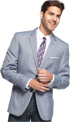 Alfani RED Sport Coat Blue Texture Slim Fit on shopstyle.com