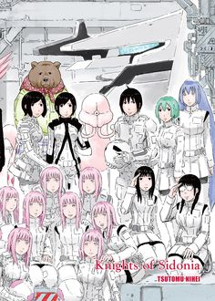 Knights Of Sidonia 5 Anime, Anime Art, Knights Of Sidonia, Arte Robot, Alien Vs Predator, Manga Art, Aesthetic Anime, Comic Art, Character Design