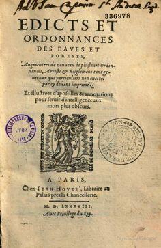 Edits et ordonnances des eaux et forêts - France - Google Books