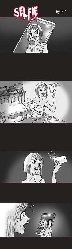 Silent Horror :: Selfie   Tapastic Comics - image 1
