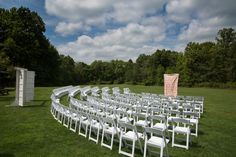 Outdoor Ceremony at Cuyahoga Valley National Park | Happy Days Lodge