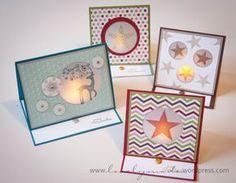 Es weihnachtet, und zu Weihnachten gehören Kerzen genauso wie Punsch und Vaniliekipferl. Bei Andrea habe ich diese wundervolle Teelichtkarte entdeckt und die Idee gleich für mich angewand- ist so s…