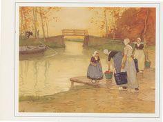 Boerinnen Brug   Henri Cassiers