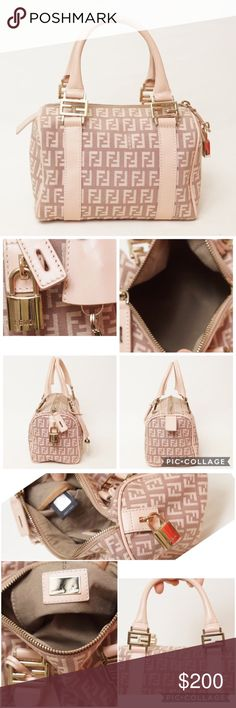 Authentic Fendi mini speedy bag Authentic Fendi mini speedy satchel.  Super cute, excellent condition and looks brand new. No stains, dirt or tears. Size 9x7.5x4 inches. Fendi Bags