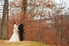 First looks.  Fall wedding.  November wedding.  Dress and jacket by davidsbridal.com photo by ariusphoto.com