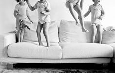 Love this! Four little monkeys jumping on the couch.