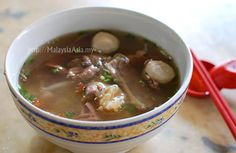 Beef Noodles - Customizable where many parts of beef can be used. The broth is the most important in this dish.