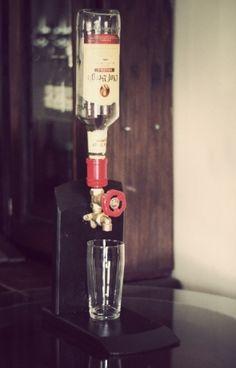 Handmade Brass Wine & Liquor Dispensers. Made from Oak Wine Barrels! Faerie Glen - image 3