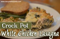 Crock Pot White Chicken Lasagna