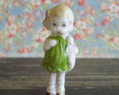 """Vintage Bisque Little Girl Frozen Charlotte Doll Japan 3"""""""
