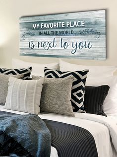 Couples Wall Art: When we have each other we have everything (Wood - Sense Of Art Bedroom Signs, Home Bedroom, Quotes For Bedroom Wall, Master Bedrooms, Bedroom Wall Art Above Bed, Bedroom Decor Master For Couples, Bedroom Frames, Bedroom Ideas, Living Room Art