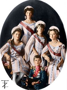 Grand Duchesses and Alexei by tashusik on DeviantArt