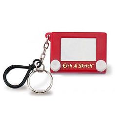 Promotional Etch A Sketch Keyrings printed on reverse with your logo or brand.