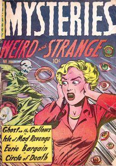 MYSTERIES Comic book cover art