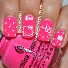 Hello Kitty nails using QA12 plate from Born Pretty Store Full Post: http://heartnat.blogspot.com/2013/01/born-pretty-store-hello-kitty-qa12.html