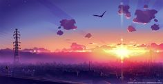 clouds dawn city birds makoto shinkai 5 centimeters per second skyscapes 1909x992 wallpaper_www.wallpapermay.com_62.jpg (728×378)